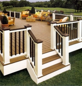 Composite deck railing benefit