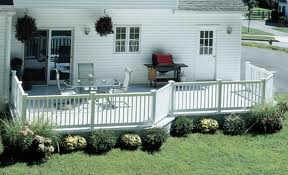 Composite deck with railing system