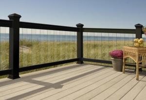 Alternatives to deck railings
