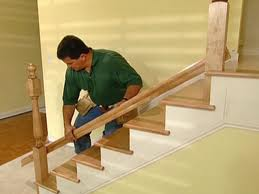 stair railing install