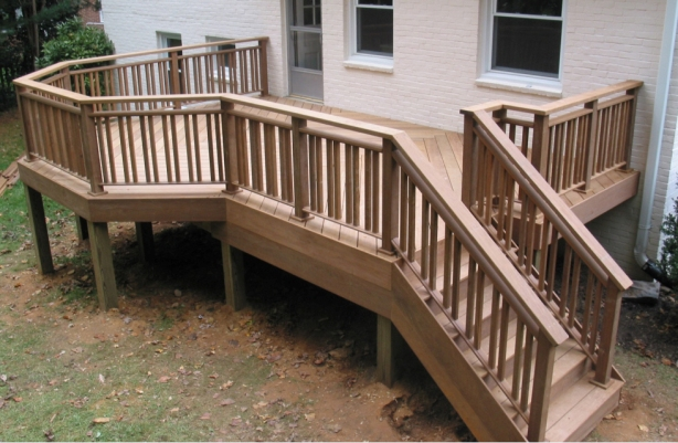 how to build wood handrails
