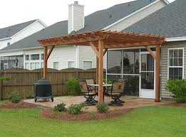 The heck in a pergola