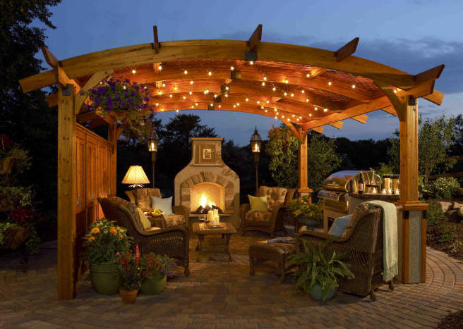 backyard arbor designs